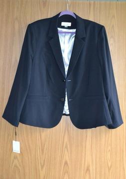 $139 Calvin Klein Jacket Desiner Blazer Coat Black Classic L