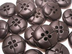 8 new Faux Leather Black Buttons size  1 inch,7/8, 13/16, 5/