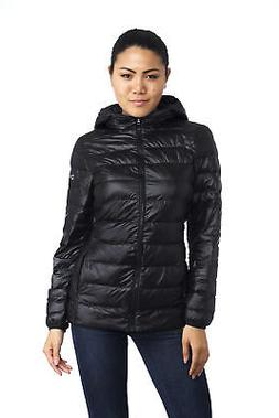 Alpine Swiss Womens Hooded Down Jacket Puffer Bubble Coat Pa