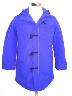 Lands' End Womens Electric Blue Petite Squall Duffle Coat Si