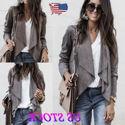 US Fashion Autumn Women's OL Work Clothing Coat Jacket Ladie