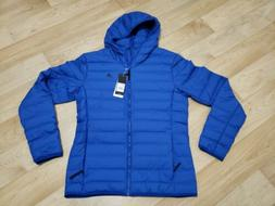 *ASIAN SIZING* NWT Adidas Shiny Real Down Lightweight Hooded