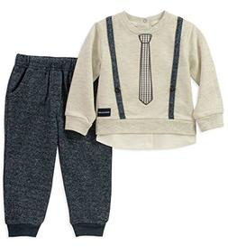 baby boys 2 pieces pant set mock