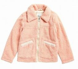 Urban Republic Baby Girls' Coat Pink Size 3T Boucle Collared