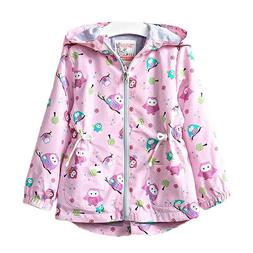 Baby Girls Windproof Jackets Spring Autumn Outerwear Hooded