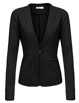 Beyove Women's Basic Boyfriend Long Sleeve Blazer Jacket Sui