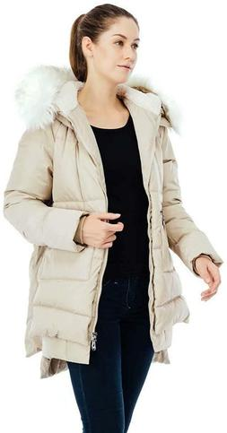 Beinia Valuker Women's Down Coat with Fur Hood with 90% Down