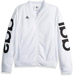 adidas Girls' Big Bomber Jacket, White/W, M