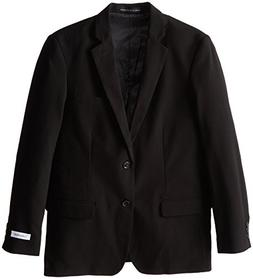 Calvin Klein Big Boys' Bi-Stretch Blazer, Black, 12