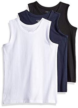 Amazon Essentials Toddler Boys' 3-Pack Tank, Black Beauty/Br
