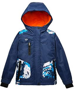Wantdo Boy's Ski Jacket Waterproof Thick Winter Coat with Ho