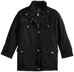 Urban Republic Boys' Big Military Coat with Vestee, Black, 1