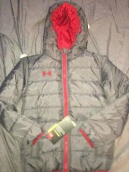 UNDER ARMOUR Boys Size 6  Gray and Red Cold Gear Storm Winte