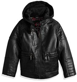 Urban Republic Boys Winter Cool Motorcycle Biker Faux Leathe