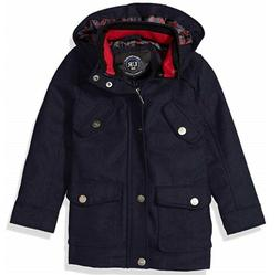 Urban Republic Boys Wool Military Coat Navy 10/12 Missing 2n