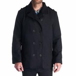 Hammer Anvil Bryce Mens Wool Blend Double Breasted Peacoat D