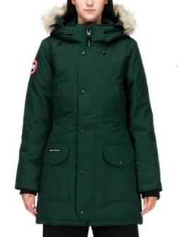 Canada Goose Women's Fur Hood Down Parka Quilted Coat Green