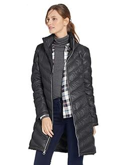 Calvin Klein Women's Chevron Packable Down Coat, Black, Medi