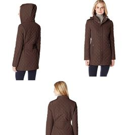 Calvin Klein Women's Classic Quilted Jacket with Side Tabs,