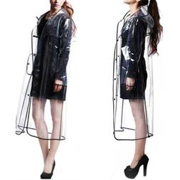 Clear Raincoat Men Women Rainwear Runway Transparent Hoodie
