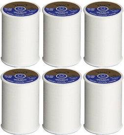 Coats and Clark Dual Duty All Purpose Thread, White  400yd S