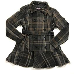 Urban Republic Collection XL Plaid Belted Pea Coat