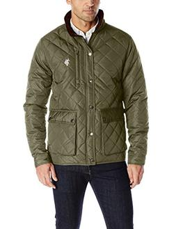 U.S. Polo Assn. Men's Diamond Quilted Jacket, Forest Night,