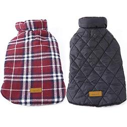 Kuoser Cozy Waterproof Windproof Reversible British Style Pl