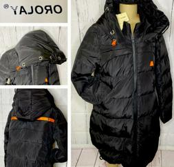 Orolay Down Jacket Thickened Puffer Coat Full Zip Hooded Dra