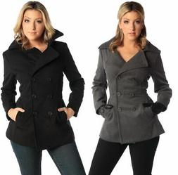 Alpine Swiss Emma Womens Peacoat Jacket Wool Blazer Double B