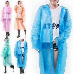 EVA Raincoat Translucent Adult Rain Coat Waterproof Poncho L