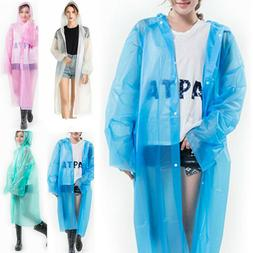 EVA Unisex Waterproof Jacket Clear Raincoat Rain Coat Hooded