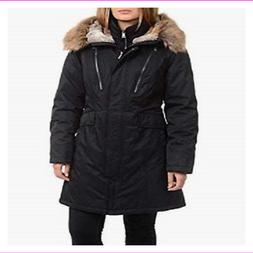 1 Madison Expedition Women's Mid Weight Black Parka Coat Jac