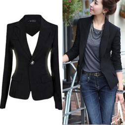 Fashion Women's One Button Slim Casual Business Blazer Suit