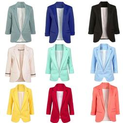 Fashion Womens Long Sleeve Cardigan Casual Lapel Blazer Suit