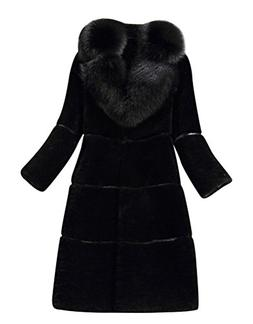 ACE SHOCK Faux Fur Coat Women MD-Long, Adults Warm Winter Ja
