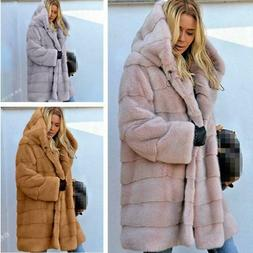 Hip Length Puffer Jacket Thick Faux Fur Lined Winter Parka ACE SHOCK Hooded Down Coat for Women