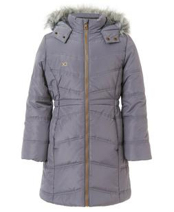Calvin Klein Girls Aerial Puffer Jacket  with Hood Gray Size