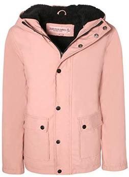 Urban Republic Girls Hooded Rain Jacket with Fur Lining, Ros
