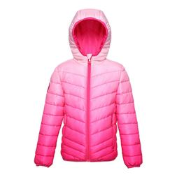 Girls' Lightweight Reversible Water Resistant Quilted Puffer