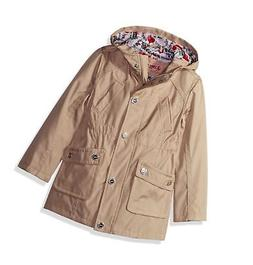 Urban Republic Girls' Little Trench Coat, Stone, 5/6 Little