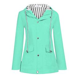 Pandaie Womens ... Jacket Coat,Outwear Women Solid Rain Jack