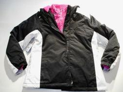 Jackets Girls outerwear Coats SwissTech Black White Heavy Ja