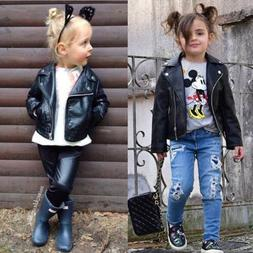 Kids Leather Jackets Jacket Cool Baby Boys Girls Motorcycle