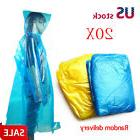 20x Disposable Outdoor Camping Travel Hiking Emergency Rain