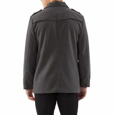 Alpine Jake Pea Blend Double Breasted Peacoat