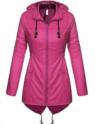 Beyove Women's Lightweight Packable Outdoor Coat Windproof H
