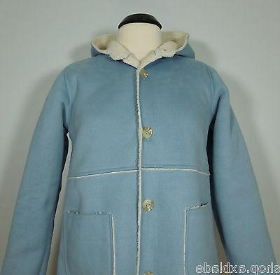CHEROKEE Blue Trench Coat with Acrylic Sheep Lining Juniors