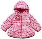 Disney Minnie Mouse Girls Winter Warm Hoodie Jacket Coat Out