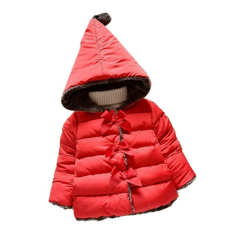 Girls Coat Long Sleeve Outwear thick Clothes Warm Down Parka